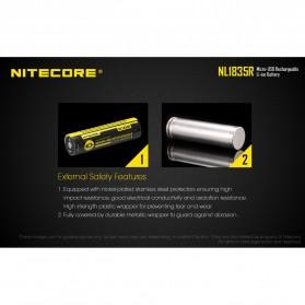 NITECORE 18650 Micro USB Rechargeable Li-ion Battery 3500mAh - NL1835R - Black - 7
