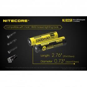NITECORE 18650 Micro USB Rechargeable Li-ion Battery 3500mAh - NL1835R - Black - 9