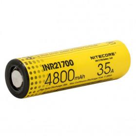 NITECORE Baterai INR21700 Unprotected High-Drain 4800mAh 35A 3.6V Flat Top - Yellow - 2