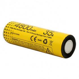 NITECORE Baterai INR21700 Unprotected High-Drain 4800mAh 35A 3.6V Flat Top - Yellow - 3