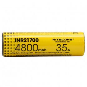 NITECORE Baterai INR21700 Unprotected High-Drain 4800mAh 35A 3.6V Flat Top - Yellow - 4