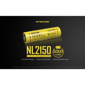 NITECORE 21700 Baterai Li-ion 5000mAh 3.6V - NL2150 - Black/Yellow - 2