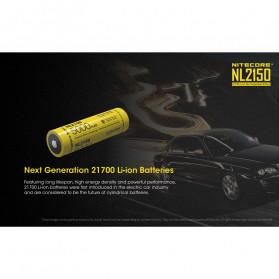 NITECORE 21700 Baterai Li-ion 5000mAh 3.6V - NL2150 - Black/Yellow - 3