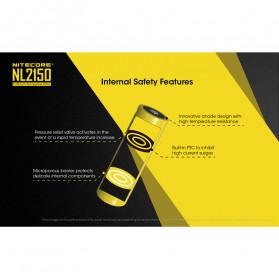 NITECORE 21700 Baterai Li-ion 5000mAh 3.6V - NL2150 - Black/Yellow - 4
