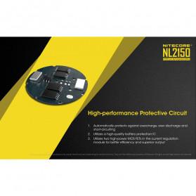 NITECORE 21700 Baterai Li-ion 5000mAh 3.6V - NL2150 - Black/Yellow - 5