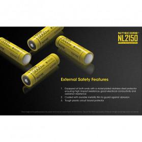 NITECORE 21700 Baterai Li-ion 5000mAh 3.6V - NL2150 - Black/Yellow - 6