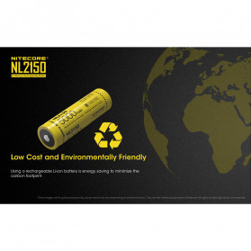 NITECORE 21700 Baterai Li-ion 5000mAh 3.6V - NL2150 - Black/Yellow - 7
