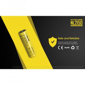 NITECORE 21700 Baterai Li-ion 5000mAh 3.6V - NL2150 - Black/Yellow - 8