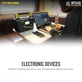 NITECORE Portable Outdoor Power Station 421Wh 117000mAh - NPS400 - Black - 11