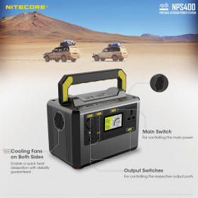 NITECORE Portable Outdoor Power Station 421Wh 117000mAh - NPS400 - Black - 12