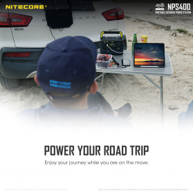 NITECORE Portable Outdoor Power Station 421Wh 117000mAh - NPS400 - Black - 7