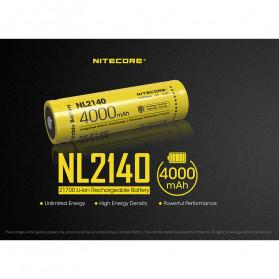 NITECORE 21700 Baterai Li-ion 4000mAh 3.6V - NL2140 - Black/Yellow - 2
