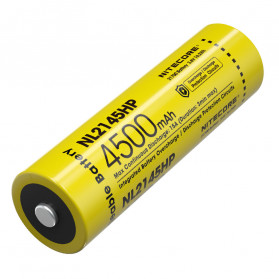 NITECORE 21700 Baterai Li-ion 4500mAh 3.6V 15A - NL2145HP - Black/Yellow