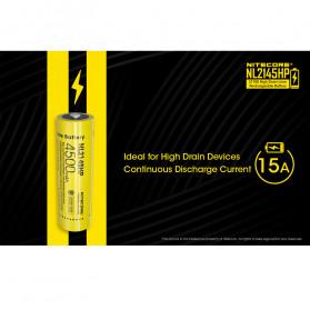 NITECORE 21700 Baterai Li-ion 4500mAh 3.6V 15A - NL2145HP - Black/Yellow - 2