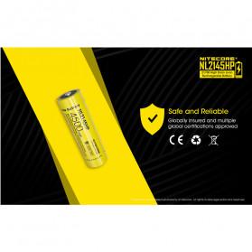 NITECORE 21700 Baterai Li-ion 4500mAh 3.6V 15A - NL2145HP - Black/Yellow - 5
