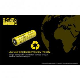 NITECORE 21700 Baterai Li-ion 4500mAh 3.6V 15A - NL2145HP - Black/Yellow - 6