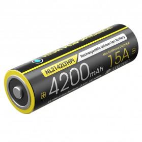 NITECORE 21700 Baterai Li-ion 4200mAh 15A 3.6V - NL2142LTHPi - Black/Yellow