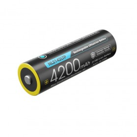 NITECORE 21700 Baterai Li-ion 4200mAh 3.6V 8A MAX - NL2142LTP - Black