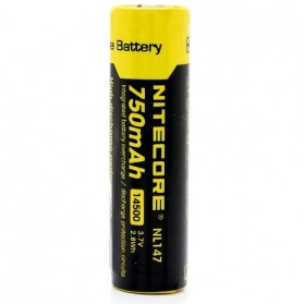 NITECORE 14500 Rechargeable Li-ion Battery 750mAh 3.7V - NL147 - Black/Yellow