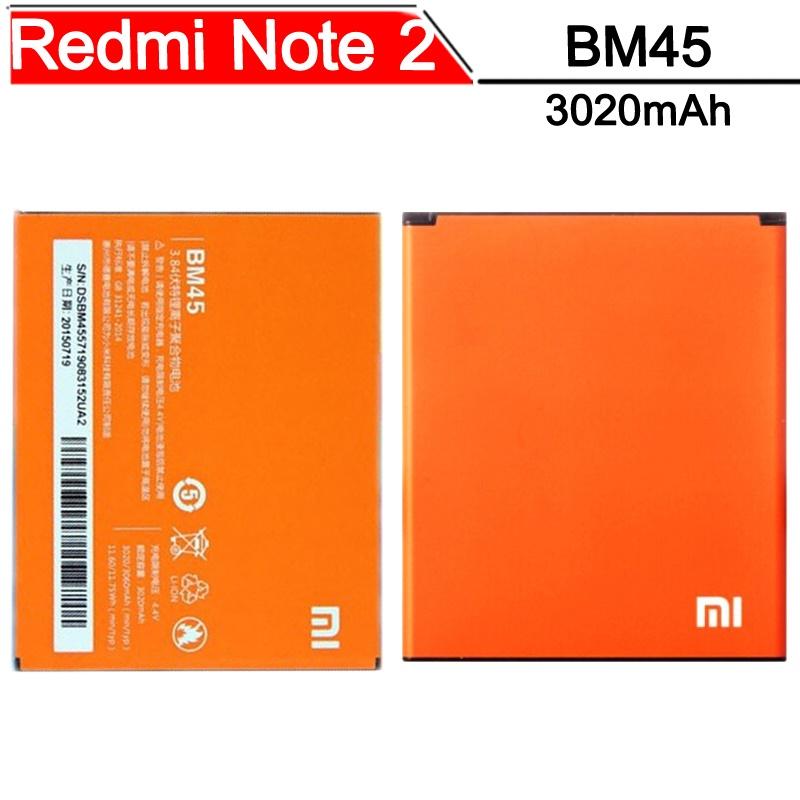 ... Baterai Xiaomi Redmi Note 2 3020mAh - BM45 (OEM) - Orange - 1 ...