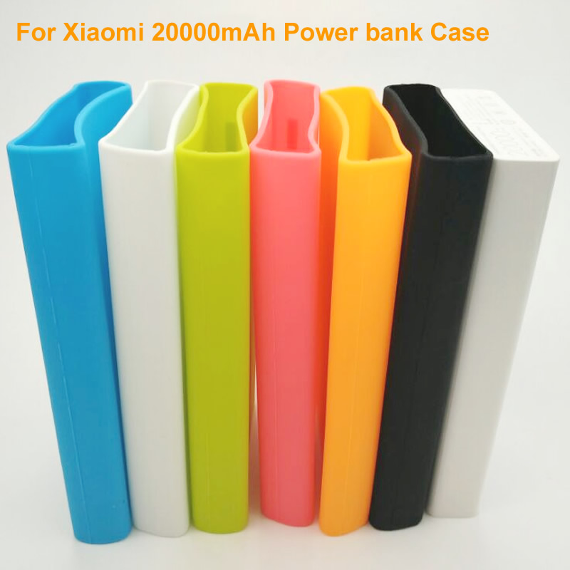 silicone case cover for xiaomi power bank 20000mah   blue