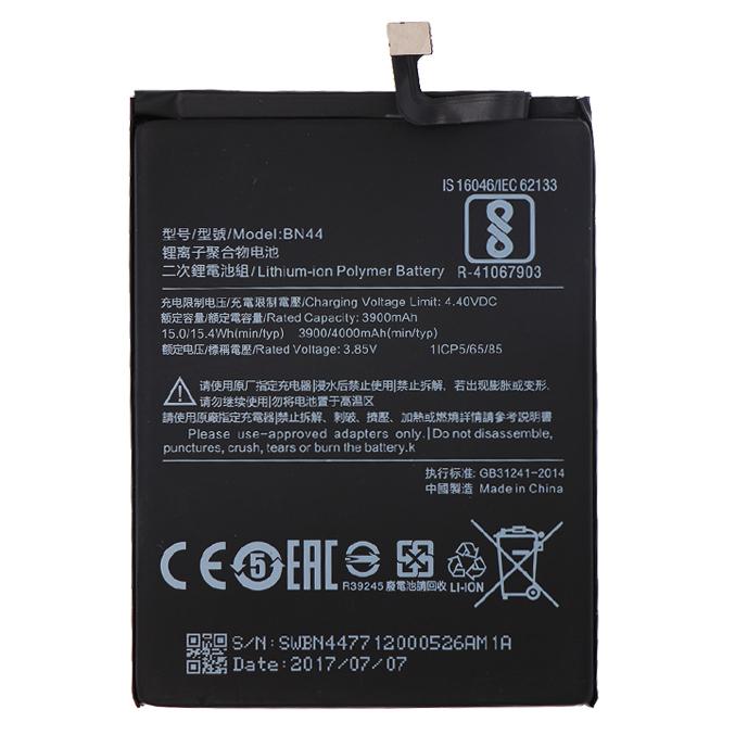 Baterai Xiaomi Redmi 5 Plus 38v 3900mah Bn44 Original