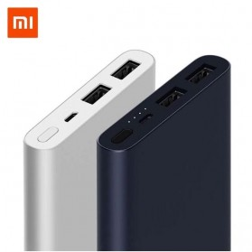 Powerbank - Xiaomi Power Bank 10000mAh 2nd Generation 2 USB Port (ORIGINAL) - Silver