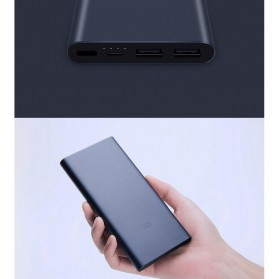 Xiaomi Power Bank 10000mAh 2nd Generation 2 USB Port (ORIGINAL) - Black - 2