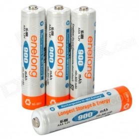 Enelong Baterai Cas Rechargeable Ni-Mh AAA 900mAh 4 PCS - HR03 / MN2400 - White