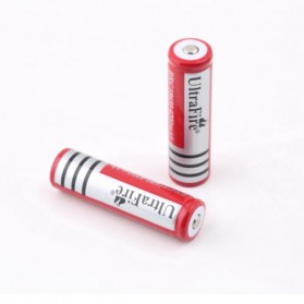 UltraFire Rechargeable Battery for LED Flashlight 3.7V 4800mAh with Button Top - BRC 18650 1PCS - Red - 3