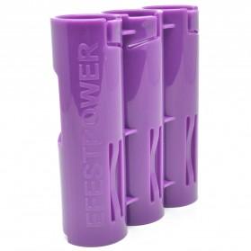Efest PC3 Battery Holder 3 Slot for 18650 Battery - Purple - 3