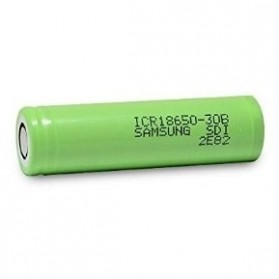 Samsung ICR 18650-30B Li-ion Battery 3000mAh 3.7V with Flat Top - Green