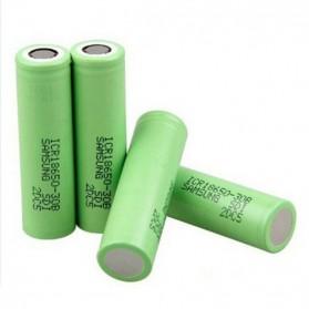 Samsung ICR 18650-30B Li-ion Battery 3000mAh 3.7V with Flat Top - Green - 2