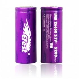 Efest Purple IMR 26650 Li-Mn Battery 5200mAh 3.7V 15A with Flat Top - 26650 - Purple