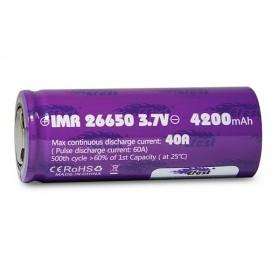 Efest Purple IMR 26650 Li-Mn Battery 4200mAh 3.7V 40A with Flat Top - 26650 - Purple