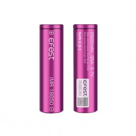 Efest IMR 18650 Li-Mn Battery 2900mAh 3.7V 35A with Flat Top - 18650R30V2 - Purple - 3