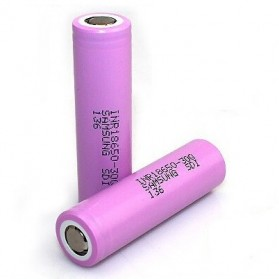 Samsung INR 18650-30Q Li-ion Battery 3000mAh 3.7V with Flat Top - Pink