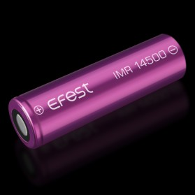 Efest IMR 14500 Battery 650mAh 3.7V 9.75A with Flat Top - 14500V1 - Purple - 3