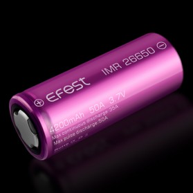 Efest IMR 26650 Battery 4200mAh 3.7V 50A with Flat Top - 26650V1 - Purple - 3