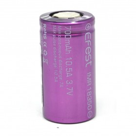 Efest IMR 18350 Battery 700mAh 3.7V 10.5A with Flat Top - Purple - 2