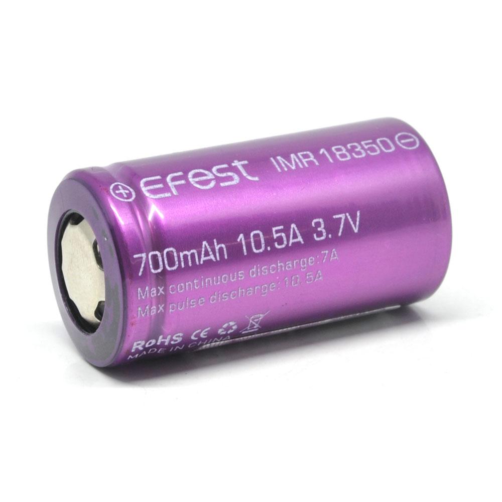 Efest Imr 18350 Battery 700mah 37v 105a With Flat Top Purple Panasonic Ncr 18650 Li Ion 3400mah 30a Baterai 1