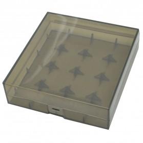 Efest Transparent Battery Case for 4x18650 - Black
