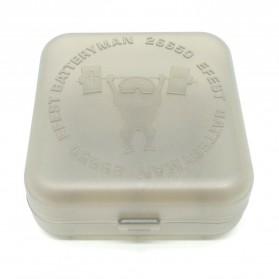 Efest Batteryman Transparent Battery Case for 2x26650 - Transparent - 2