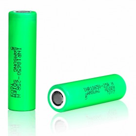 Samsung INR 18650-25M  Li-ion Battery 2500mAh 3.7V 35A with Flat Top - Green