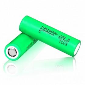 Samsung INR 18650-25M  Li-ion Battery 2500mAh 3.7V 35A with Flat Top - Green - 2