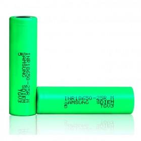 Samsung INR 18650-25M  Li-ion Battery 2500mAh 3.7V 35A with Flat Top - Green - 3