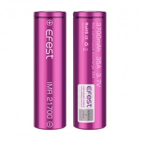 Efest Purple IMR 21700 Li-Mn Battery 3700mAh 3.7V 35A with Flat Top - Purple
