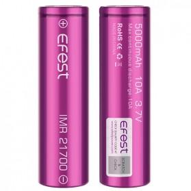 Efest Purple IMR 21700 Li-Mn Battery 5000mAh 3.7V 10A with Flat Top - Purple - 2