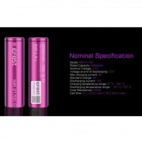 Efest Purple IMR 21700 Li-Mn Battery 5000mAh 3.7V 10A with Flat Top - Purple - 4