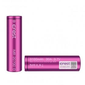 Efest Purple IMR 20700 Li-Mn Battery 3100mAh 3.7V 30A with Flat Top - Purple - 2